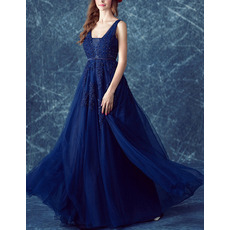 Elegant V-Neck Floor Length Organza Evening/ Prom/ Formal Dresses