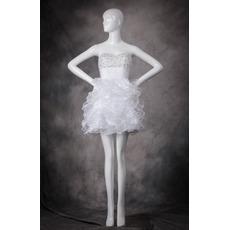 2019 New Style Sweetheart Short Ruffle Skirt Homecoming Dresses