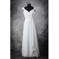 Discount Sheath Sweetheaart Floor Length Chiffon Wedding Dresses