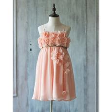 Discount Spaghetti Straps Short Chiffon Easter Little Girls Dresses