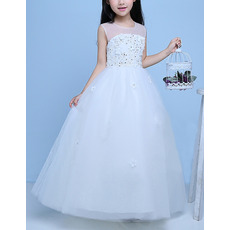 2017 New Style Ball Gown Floor Length Organza Flower Girl Dresses