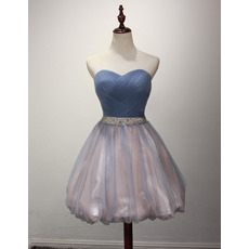 Affordable Sweetheart Short Taffeta Organza Homecoming Dresses