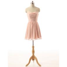 Custom Sweetheart Mini Chiffon Bridesmaid/ Wedding Party Dresses