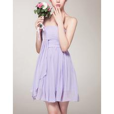 Sexy Empire Strapless Mini Chiffon Bridesmaid/ Homecoming Dresses