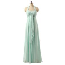 Sexy Halter Sweetheart Floor Length Chiffon Bridesmaid Dresses