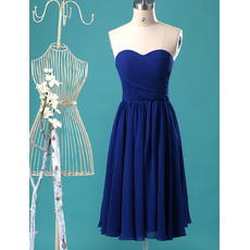Discount Sweetheart Knee Length Chiffon Bridesmaid/ Homecoming Dresses