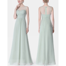 2018 New Style Sleeveless Floor Length Chiffon Bridesmaid Dresses