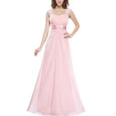 2019 New Style Floor Length Chiffon Bridesmaid Dresses with Straps