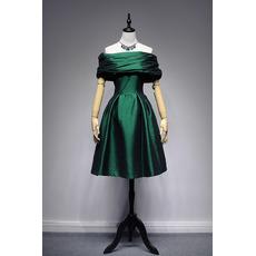 Custom Off-the-shoulder Knee Length Taffeta Cocktail Party Dresses