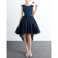 Discount Ball Gown Sleeveless High-Low Lace Cocktail Party Dresses