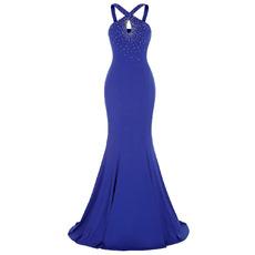 2017 Sheath Sleeveless Floor Length Chiffon Evening Dress with Straps
