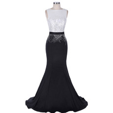 Sexy Sheath Sleeveless Floor Length Chiffon Evening/ Prom Dresses