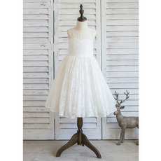 2017 New Style Knee Length Lace Flower Girl/ First Communion Dresses