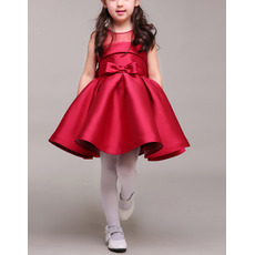 Stunning Ball Gown Sleeveless Mini/ Short Satin Flower Girl Dresses