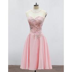 Elegant Sweetheart Mini/ Short Chiffon Homecoming/ Party Dresses