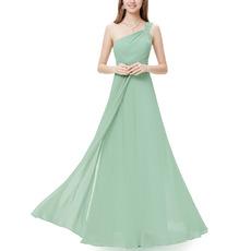 2018 New Style One Shoulder Floor Length Chiffon Bridesmaid Dresses