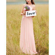 Discount Sleeveless Floor Length Chiffon Bridesmaid/ Prom Dresses
