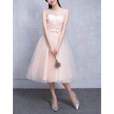 2018 New Style Sweetheart Sleeveless Knee Length Bridesmaid Dresses