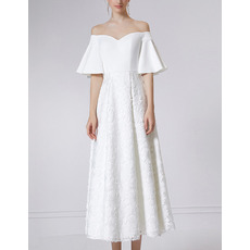 Affordable Off-the-shoulder Evening Dresses with Short Sleeves