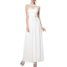 2018 New Style Sleeveless Ankle Length Chiffon Evening Dresses