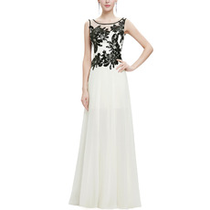 Custom Floor Length Chiffon Emboidery Evening/ Prom/ Formal Dresses