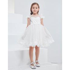 Discount Sleeveless Mini/ Short Organza Flower Girl Dresses