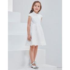 2018 New Style Mandarin Collar Mini/ Short Flower Girl Dresses