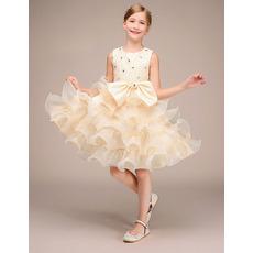 Affordable Short Ruffle Skirt Flower Girl / Little Girl Party Dresses