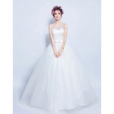Discount Ball Gown Sleeveless Floor Length Satin Wedding Dresses