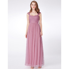 Elegant Sweetheart Floor Length Chiffon Bridesmaid Dresses with Straps