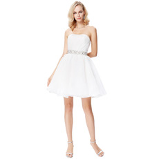 Sexy A-Line Strapless Mini/ Short Homecoming/ Graduation Dresses