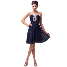 2018 New Style Sweetheart Mini/ Short Chiffon Homecoming Dresses