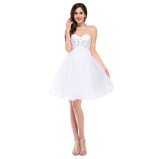 Sexy A-Line Sweetheart Mini/ Short Homecoming/ Graduation Dresses