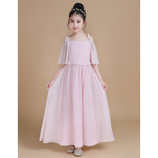 Stunning Off-the-shoulder Ankle Length Chiffon Junior Bridesmaid Dress