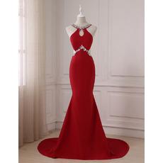 Custom Mermaid Floor Length Satin Evening/ Prom/ Formal Dresses