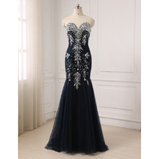 Custom Mermaid Sweetheart Floor Length Evening/ Prom/ Formal Dresses