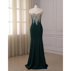 Discount Mermaid Floor Length Satin Evening/ Prom/ Formal Dresses
