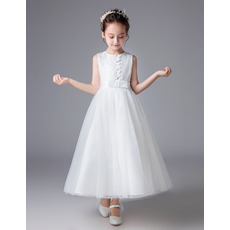 Adorable A-Line Ankle Length Flower Girl/ First Communion Dresses