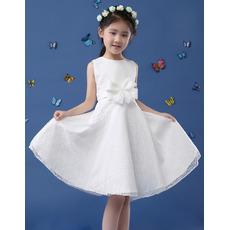 2019 New Style A-Line Sleeveless Knee Length Lace Flower Girl Dresses