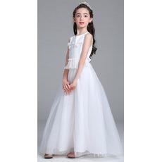 Inexpensive A-Line Ankle Length Flower Girl Dresses for Wedding