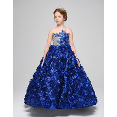 Stunning A-Line Ankle Length Floral Skirt Little Girls Party Dresses