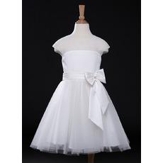 Custom A-Line Knee Length Organza Flower Girl Dresses for Wedding