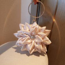 Satin Floral Beading Evening Handbags/ Purses/ Clutches