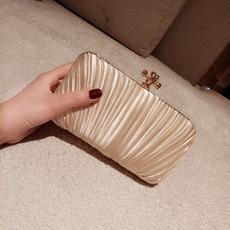 Satin Pleated Evening Handbags/ Purses/ Clutches