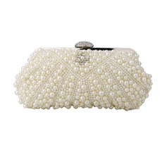 Beading White Evening Handbags/ Purses/ Clutches