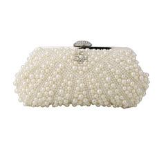 Beading White Evening Handbags/ Purses/ Clutches