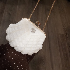 Beading White Wedding Party Evening Handbags/ Purses/ Clutches