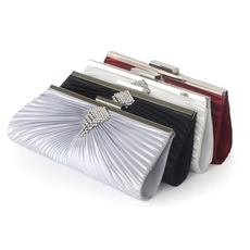 Pleated Silk Wedding Party Evening Handbags/ Purses/ Clutches