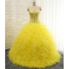 Elegant Ball Gown Sweetheart Floor Length Prom/ Quinceanera Dress