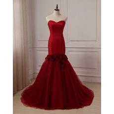 Custom Mermaid Sweetheart Court Train Prom/ Party/ Formal Dresses
